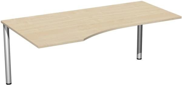 PC-Schreibtisch links Serie 4 Fuß Flex 180 x 72 x 80-100 cm Geramöbel