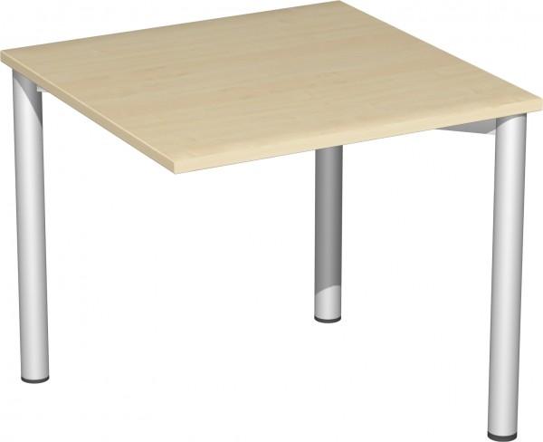 Verkettungs-Schreibtisch mit 3 Füßen Serie 4 Fuß Flex 80 x 80 x 72 cm Geramöbel