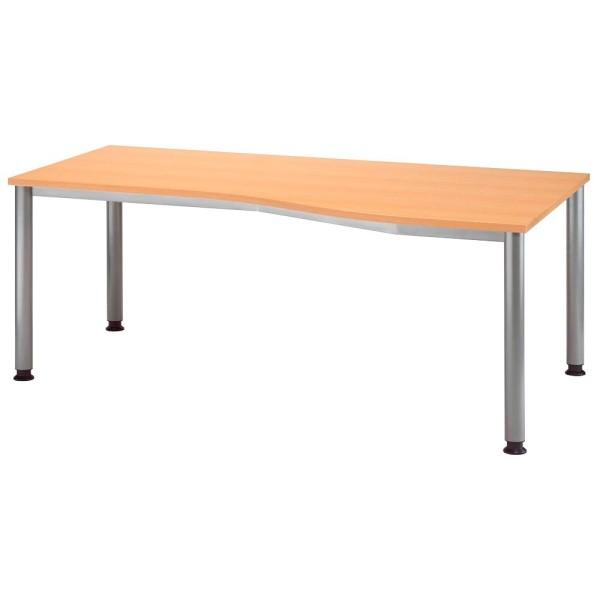 Höhenverstellbarer Schreibtisch Orbis Trapezform Maße (BxT): 180,0 x 80,0/100,0 cm