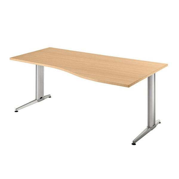 Schreibtisch Sira Trapezform Maße (BxTxH): 180 x 80,0/120,0 cm