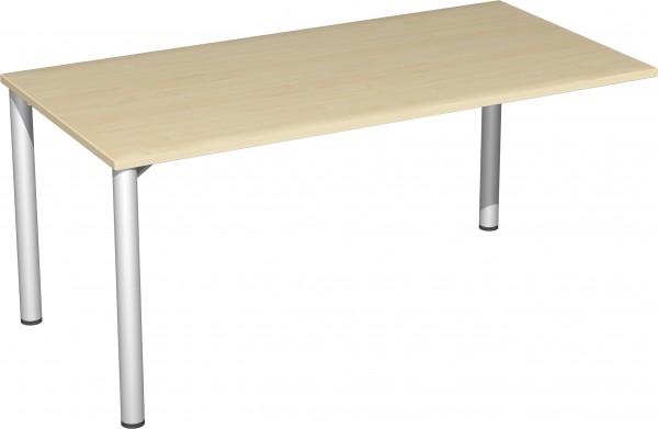 Verkettungs-Schreibtisch mit 3 Füßen Serie 4 Fuß Flex 160 x 80 x 72 cm Geramöbel