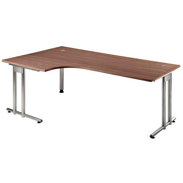 Schreibtisch Prokura L-Form auf C-Fuß-Gestell Maße (BxT): 200,0 x 80,0/120,0 cm, H72 cm