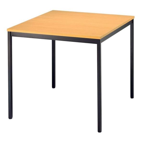 Konferenztisch quadratisch vierkantrohr Maße: B80 x T80 x H72 cm