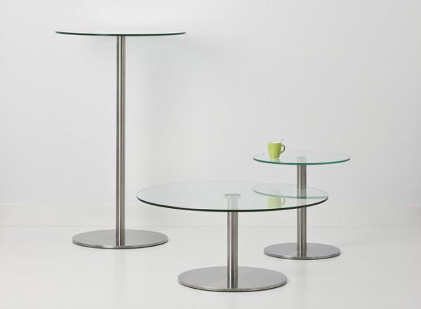 Cascando Design Beistelltisch Stainless - Höhe 72 cm / Ø 90 cm