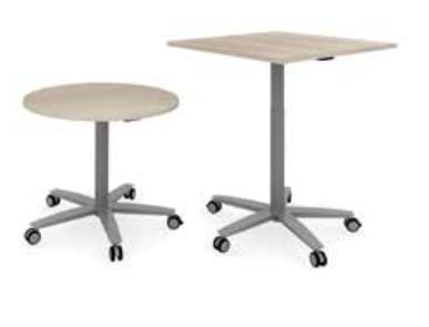 Ceka Lift-Tisch meeting eckigeTischplatte