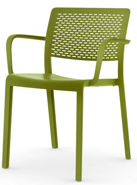 Stapelstuhl Trama mit Armlehne Design Stuhl Vilagrasa