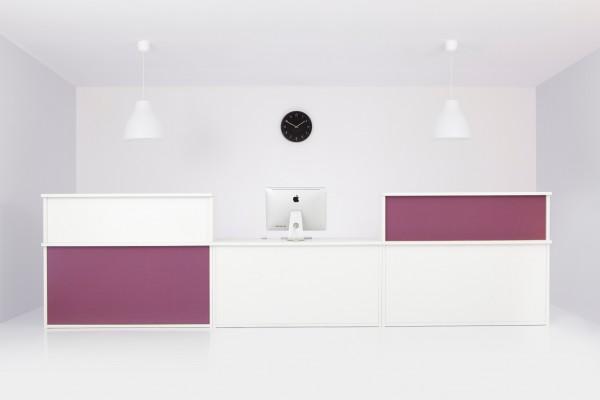 Empfangstheke Velum Thekenpanele mit Stoff bezogen Design bn OFFICE SOLUTION