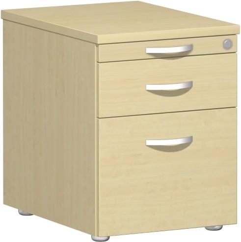 Rollcontainer mit Hängerregistratur u. 1 Kunststoff-Schubfach u. Utensilienschub 60 x 56,6 x 43 cm C