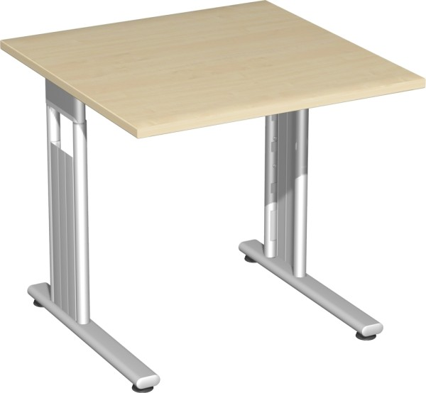 Verkettungs-Schreibtisch links verkettbar, Serie Flex (ehem. Lissabon) 80 x 80 x 72 cm Geramöbel