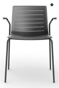 SKIN Stuhl stapelbar in schwarz