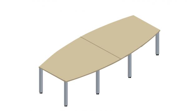 Konferenztisch E10 Büromöbel 320x140/100 cm in Ahorn