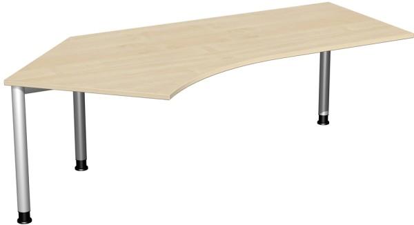Schreibtisch 135° links höhenverstellbar Serie 4 Fuß Flex 113 x 68-80 x 216,6 cm Geramöbel