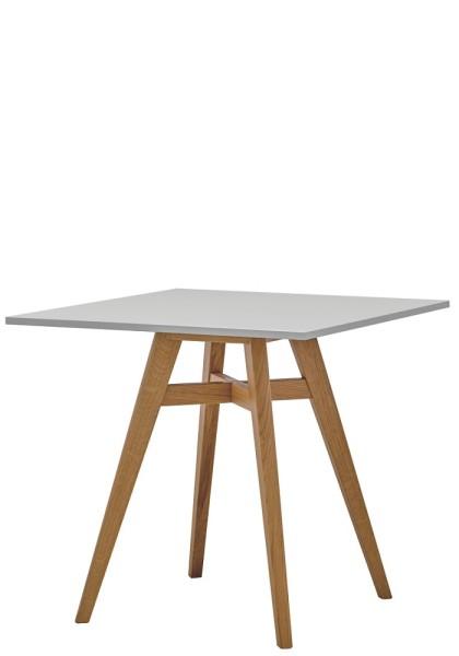 Rim Witty Quadratischer Holztisch, Höhe 745 mm
