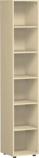 Regal Flex 6 Ordnerhöhen 40 x 40 x 216 cm mit Justierfüßen Geramöbel