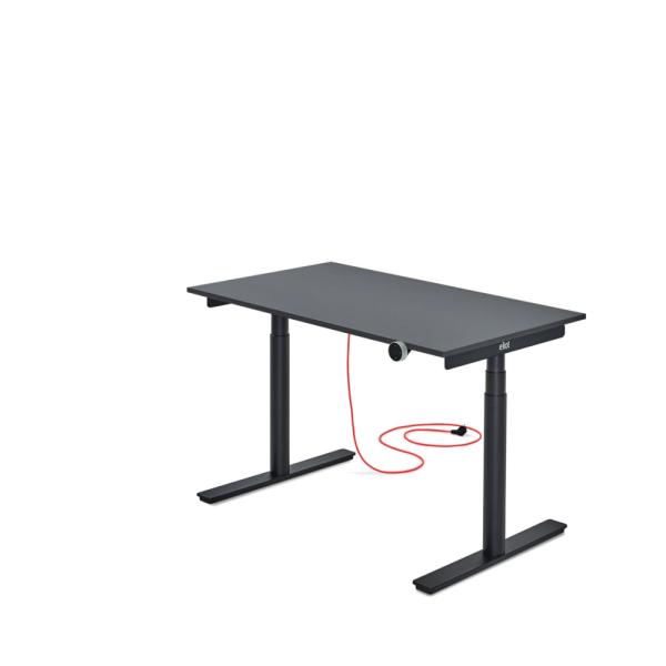 Eliot Black elektrischer Schreibtisch, höhenverstellbar, SOFORT LIEFERBAR