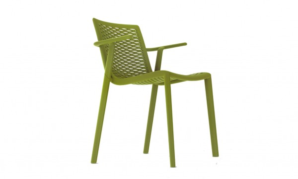Stapelstuhl Netkat Design Stuhl mit Armlehnen Vilagrasa