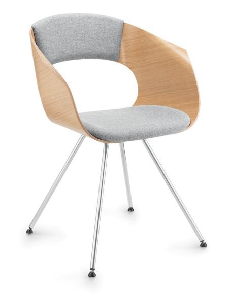 Bonito Konferenzstuhl- Besucherstuhl, Design Züco 4-Fuß Stahl