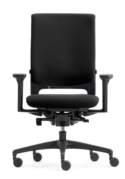 Klöber Mera (mer98) Bürodrehstuhl, Polsterrücken mit Außenschale, Armlehnen (Express-Modell)