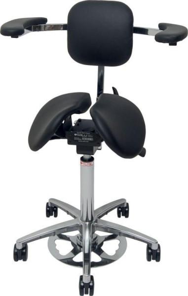 Ergonomischer Sattelstuhl Expert Salli mit einer Stretching-Stütz und einer Ellbogenunterstützung