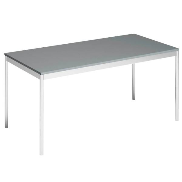 Schreibtisch System4 Viasit auf 4-Fuß-Stahlgestell