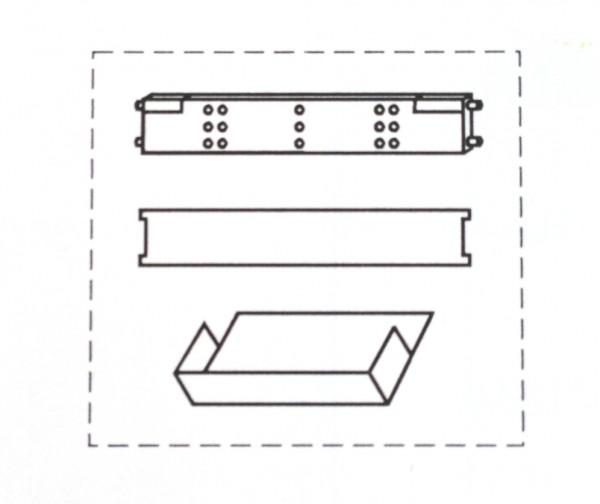 Container-Einrichtungs-Set Für Kunststoff-Schubfach 2x Querausfachung 1x Längsausfachung 5x Schrägab