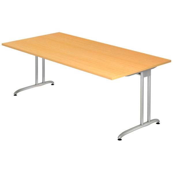 Schreibtisch Altus rechteckig auf massiven C-Fuß-Gestell, Maße (BxTxH): 200x100x72 cm
