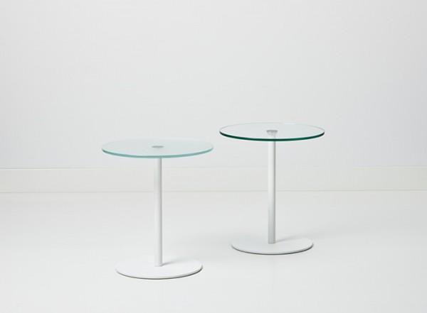 Cascando Design Beistelltisch Frost - Höhe 50 cm Ø 45 cm