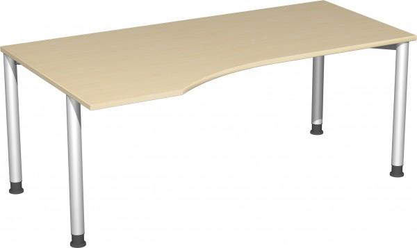 PC-Schreibtisch links, höhenverstellbar Serie 4 Fuß Flex 180 x 68-80 x 80-100 cm Geramöbel