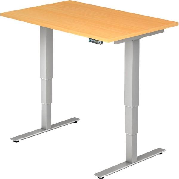 Elektrisch höhenverstellbarer Schreibtisch rechteckig Höheneinstellung: 63,5-128,5 cm