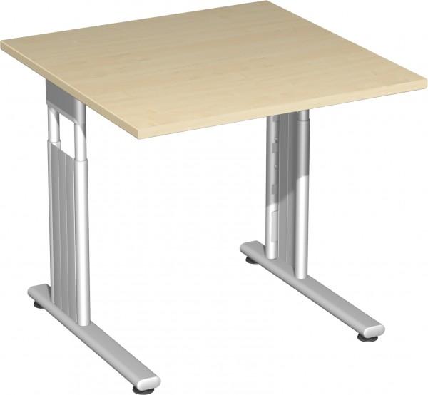 Schreibtisch höhenverstellbar Serie Flex (ehem. Lissabon) 80 x 80 x 68-80 cm Geramöbel