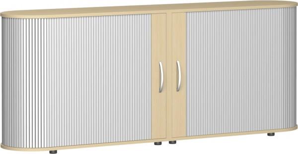 Sideboard Flex mit Justierfüßen 2 Ordnerhöhen 200 x 40 cm Querrollladenschrank Geramöbel