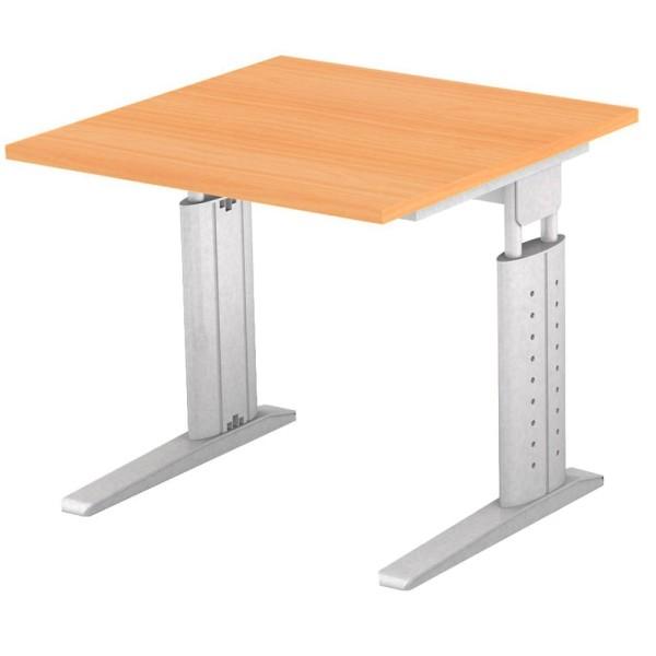 Höhenverstellbarer Schreibtisch Haziender aus Stahlfußgestell Höhe: 68,0 - 86,0 cm