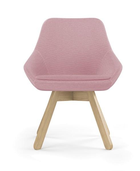 Loungesessel Calyx mit Holzgestell