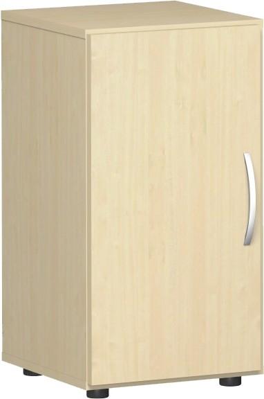 Flügeltürenschrank Flex Griff rechts, 2 Ordnerhöhen 40 x 40 x 75,2 cm mit Justierfüßen u. Türdämpfer
