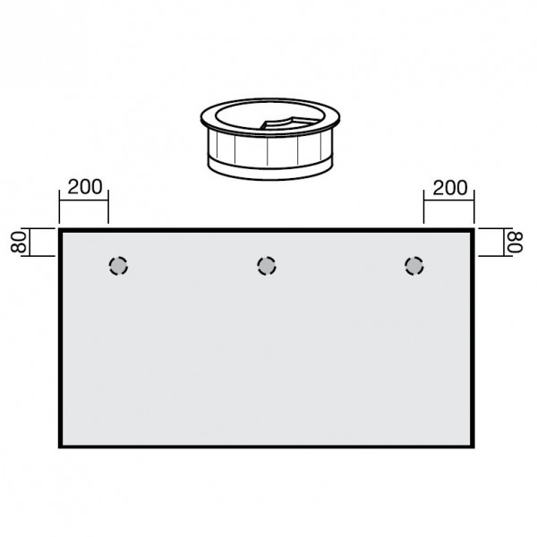 Kabeleinlassbuchse unmontiert Durchmesser 6 cm Geramöbel