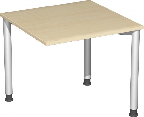 Verkettungs-Schreibtisch höhenverstellbar mit 3 Füßen Serie Flex 80 x 80 x 68-80 cm Geramöbel