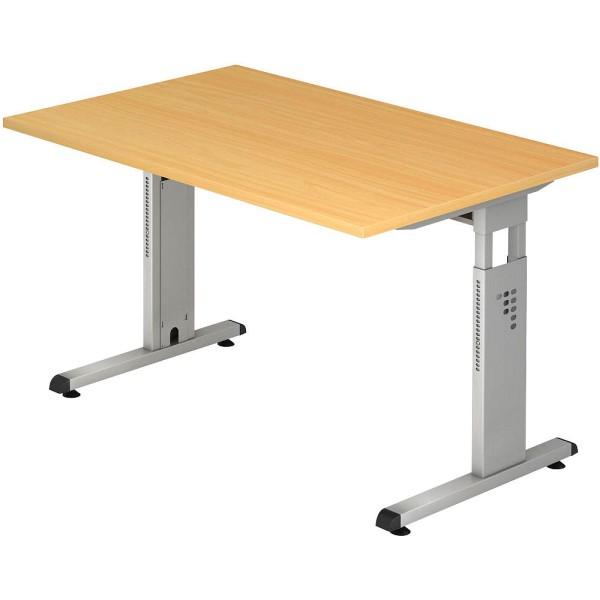 Höhenverstellbarer Schreibtisch OS12 rechteckig Maße (BxTxH): 120,0 x 80,0 x 65 - 85 cm