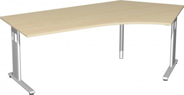 Schreibtisch 135° rechts höhenverstellbar Serie Flex (ehem. Lissabon) 113,1 x 68-80 x 216,6 cm Geram