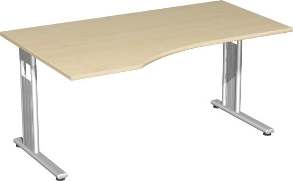 PC-Schreibtisch links, rechts verkettbar Serie Flex (ehem. Lissabon) 180 x 72 x 80-100 cm Geramöbel