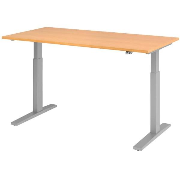 Elektrisch höhenverstellbarer Schreibtisch mit Tastschalter Maße (BxTxH): 120-180 x 80 x 70-120 cm