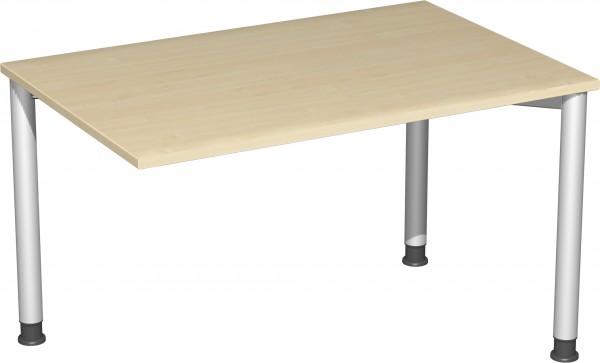 Verkettungs-Schreibtisch höhenverstellbar mit 3 Füßen Serie 4 Fuß Flex 120 x 80 x 68-80 cm Geramöbel
