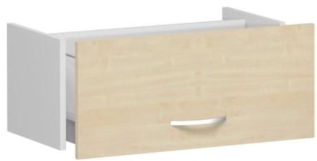 Hängeregistraturschublade Flex ohne Auszugssperre 1 Ordnerhöhe Geramöbel (Wandbefestigung des Korpus