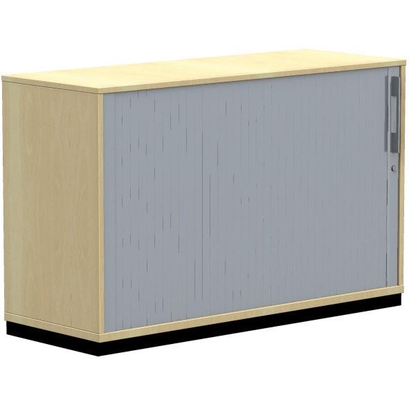 Querrolladenschrank SQart/E10 120x44,5x76,5 cm, ahorn