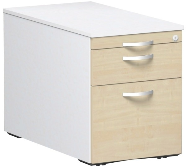 Rollcontainer mit 3 Kunststoff-Schubfächern u. Utensilienschub 80 x 56,6 x 43 cm Container Geramöbel