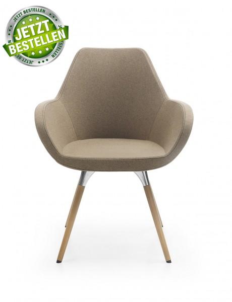 Profim Design Sessel FAN Wood Besuchersessel 10HW