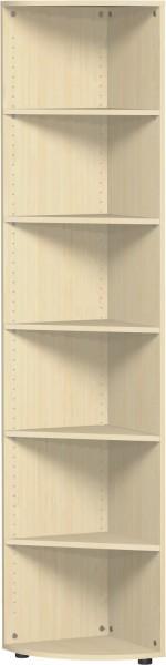 Eckabschlussregal Flex 6 Ordnerhöhen mit Justierfüßen 40 x 40 x 216 cm Geramöbel
