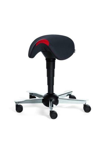 Rovo Surf dynamisches Sitzen, Polster schwarz, Gestell Alu poliert