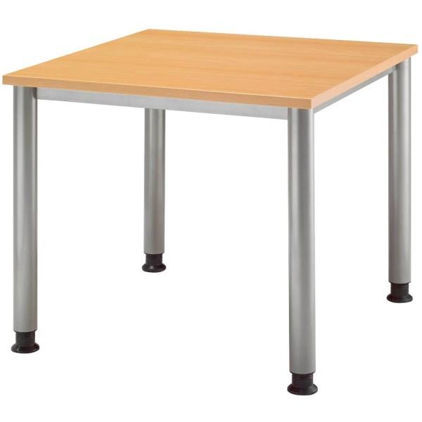Höhenverstellbarer Schreibtisch auf 4-Fuß-Gestell Höhe: 68-76 cm