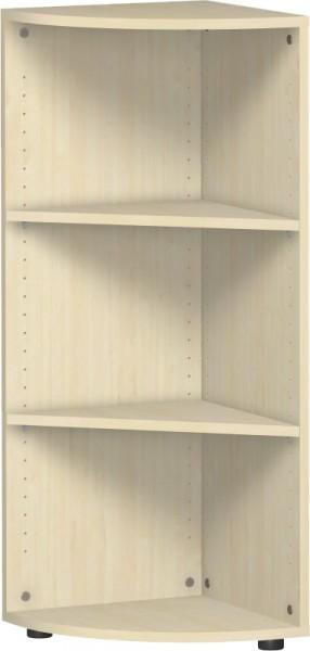 Eckabschlussregal Flex 3 Ordnerhöhen mit Justierfüßen 40 x 110,4 cm Geramöbel