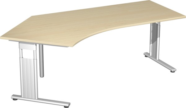 Schreibtisch 135° links, höhenverstellbar, rechts verkettbar Serie Flex (ehem. Lissabon) 113,1 x 72